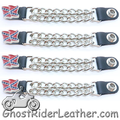 Rebel Flag Vest Extenders - Set Of Four - SKU GRL-VE124D-DS - Ghost Rider Leather