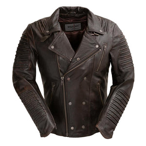 Brooklyn - Men's Leather Jacket - WBM2806 - Ghost Rider Leather