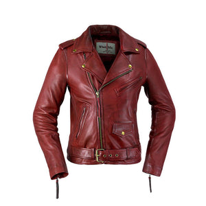 Rockstar - Women's Leather Jacket in Choice of Colors - WBL1082 - Ghost Rider Leather