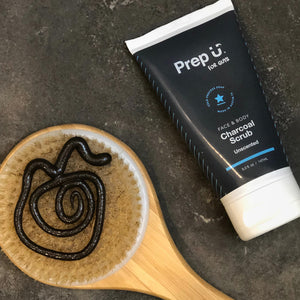 Prep U's all-natural formula keeps skin clean and fresh without the harmful chemicals that over-dry skin.