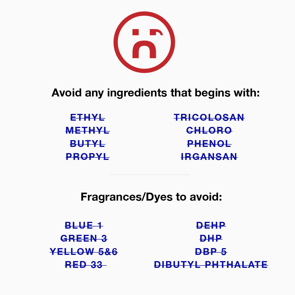 Prep U No harmful ingredients