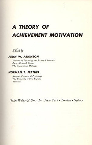 A Theory of Achievement Motivation