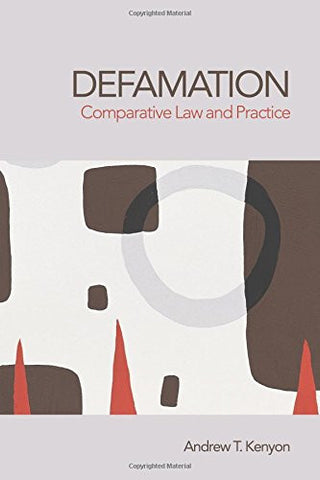Defamation: Comparative Law and Practice