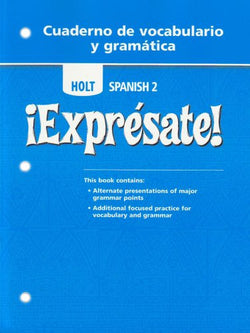 Expresate: Level 2 - Cuaderno de vocabulario y gramatica
