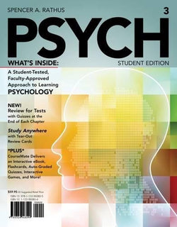 PSYCH3 (with CourseMate Printed Access Card) (New, Engaging Titles from 4LTR Press)