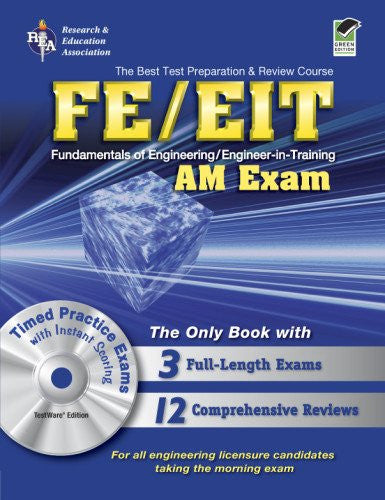 FE - EIT: AM (Engineer in Training Exam) w/CD-ROM (Engineering (FE/EiT) Test Preparation)