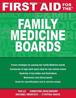 First Aid for the Family Medicine Boards (FIRST AID Specialty Boards)