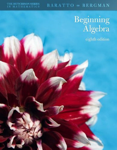 Hutchison's Beginning Algebra (The Hutchison Series in Mathematics)