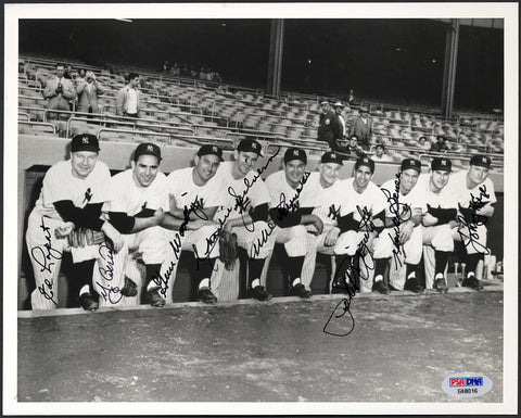 1950 New York Yankees Photo Signed by 8 w/ Berra & Rizzuto