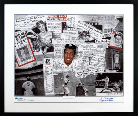 "Joe DiMaggio ""Yankee Clipper,""Signed and Inscribed Limited Edition Career Lithograph"