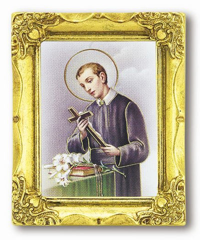 St. Gerard Maiella Antique Gold Frame