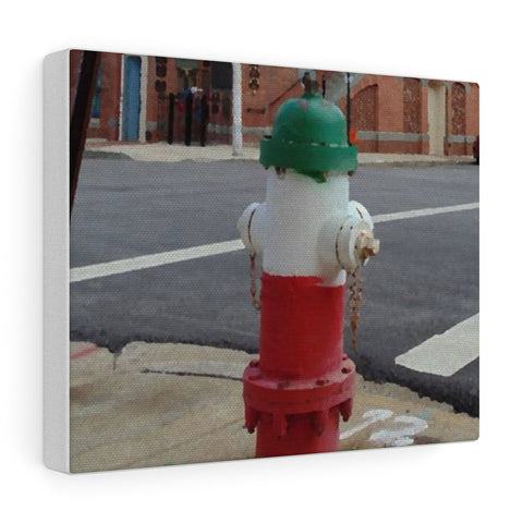 Tri-Color Fire Hydrant in Baltimore's Little Italy