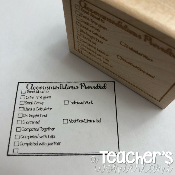 Special Education Stamp with REGULAR FONT **LARGER**