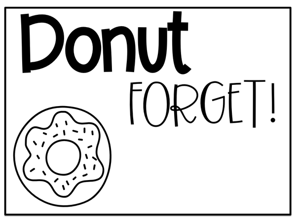 Donut Forget