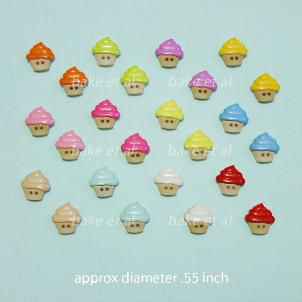 buttons (clothing) cupcake (5pcs)