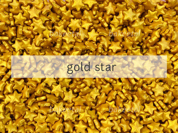dragees gold star 12mm