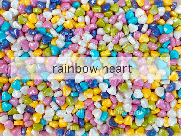 candies rainbow heart 7mm