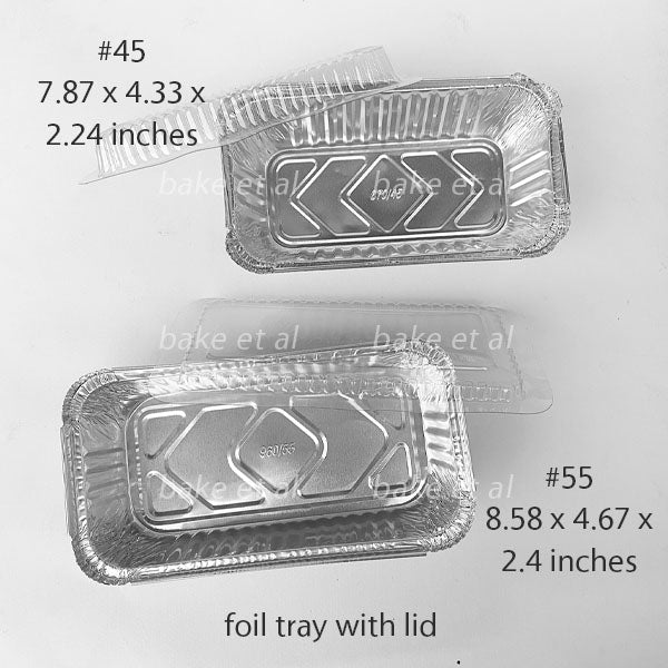 Aluminum foil tray with lid (10s)