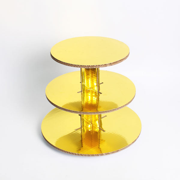 3tier DIY gold cupcake stand corrugated board RM