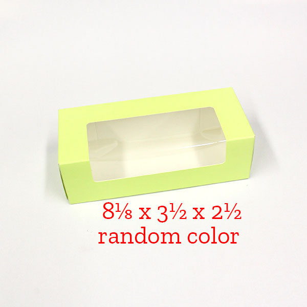 8⅛ x 3½ x 2½ preformed fruit cake box, RANDOM COLOR