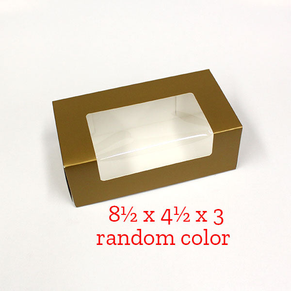 8½ x 4½ x 3 preformed fruit cake box, RANDOM COLOR
