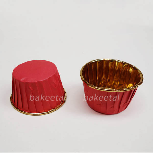 baking cups (approx) 3oz gold foil 100pcs