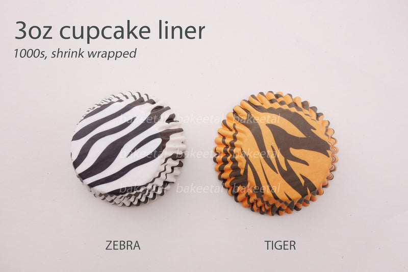 cupcake liner zebra or tiger (200pcs approx)