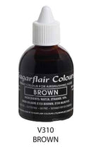 brown airbrush color 60ml, sugarflair