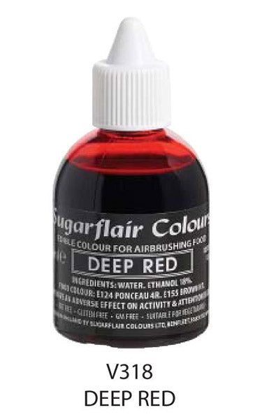 deep red airbrush color, sugarflair