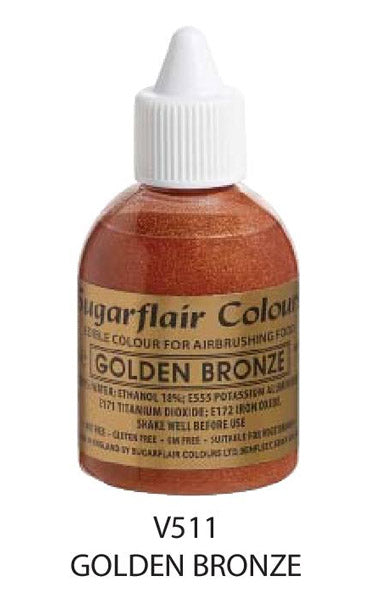 golden bronze airbrush color 60ml, sugarflair