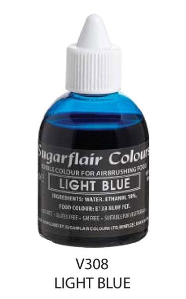 light blue airbrush color 60ml, sugarflair