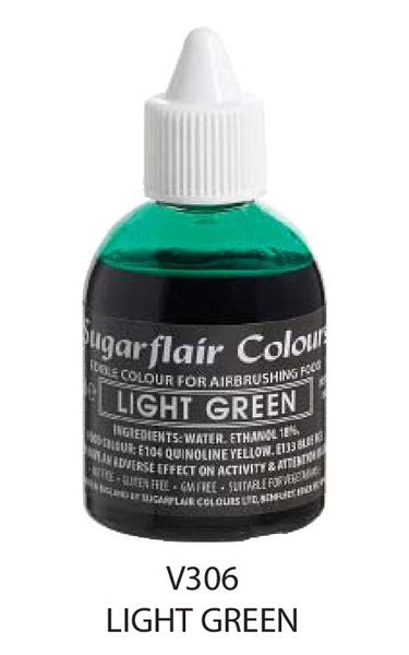 light green airbrush color 60ml, sugarflair