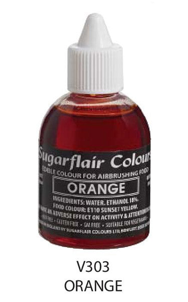 orange airbrush color 60ml, sugarflair