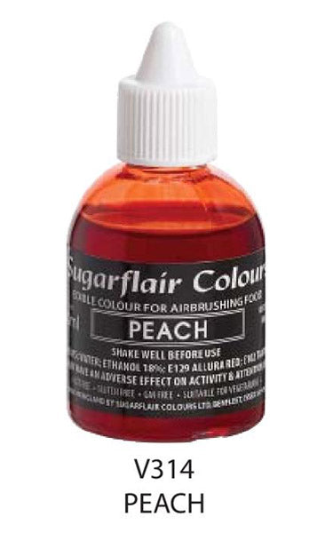 peach airbrush color 60ml, sugarflair