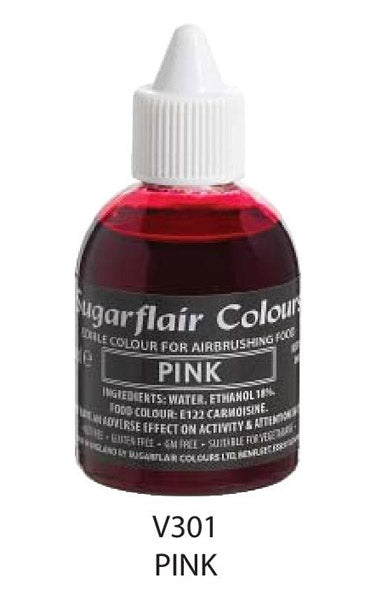 pink airbrush color 60ml, sugarflair