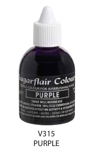 purple airbrush color 60ml, sugarflair