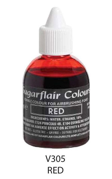 red airbrush color 60ml, sugarflair