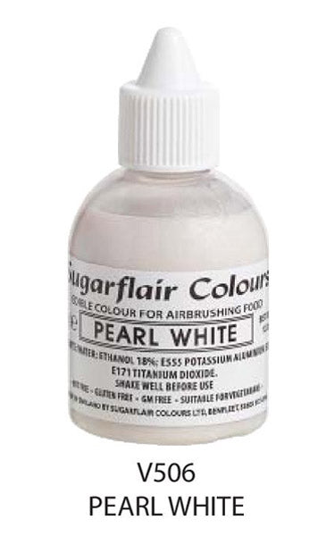 pearl white airbrush color 60ml, sugarflair