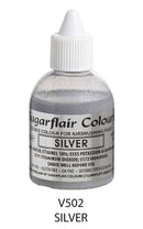 silver airbrush color, sugarflair