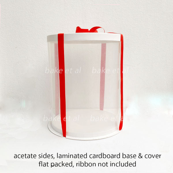 acetate round cake box  (1pc)