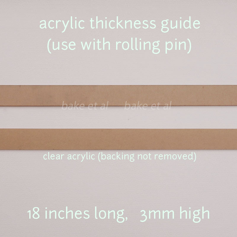 acrylic thickness guide (pair)