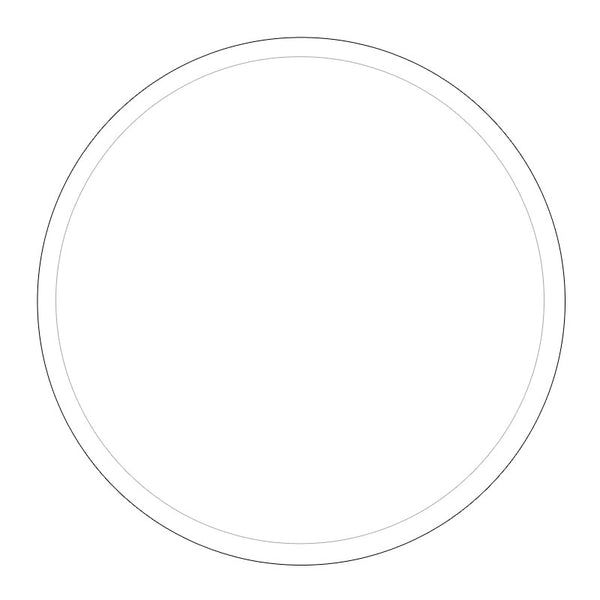 "acrylic round disc 3mm with .25"" guide"
