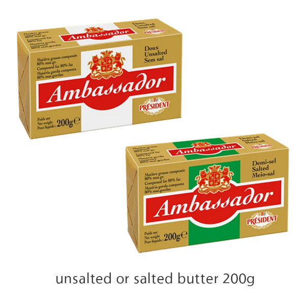 butter 200g, ambassador (product may melt during transit)