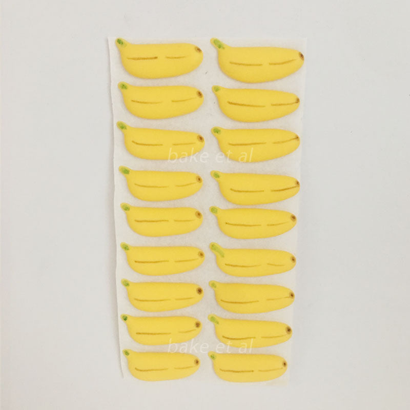 royal icing topper banana