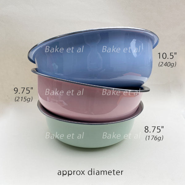 mixing bowl, colored