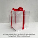 acetate square cake box (1pc)