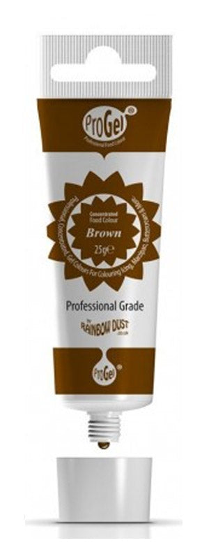 brown progel 25g, rainbow dust