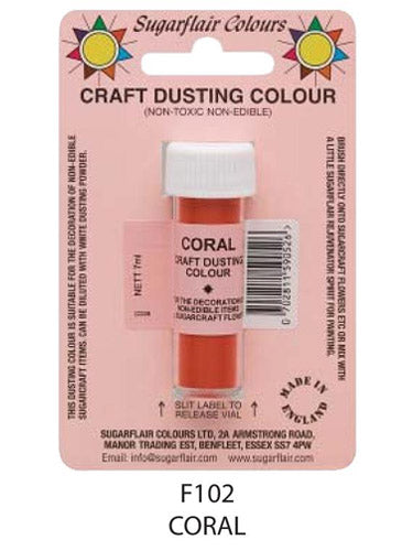 coral craft dust 7g, sugarflair