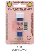 cornflower craft dust 7g, sugarflair