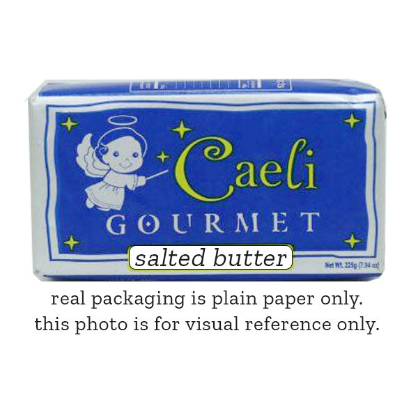 butter salted  225g, caeli (product may melt during transit)
